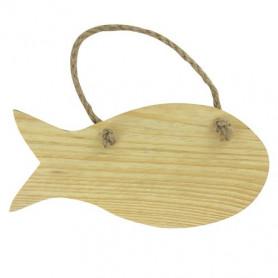 Plaque de porte Poisson en bois 15x7 cm– Artemio