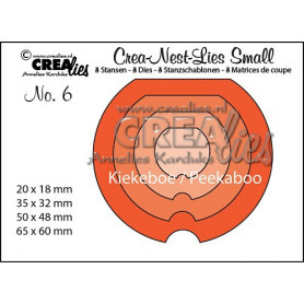 Dies Crea-Nest-Lies Small no 6 Peekaboo Round - Crealies