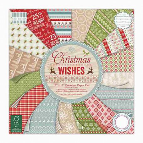 Set de papier 15x15 Christmas Wishes (64f) – First Edition