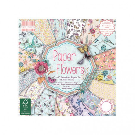 Set de papier 15x15 Paper Flowers (64f) – First Edition