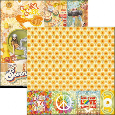 30 papiers imprimés recto-verso 30 x 30 BLOOM /& GROW scrapbooking carterie déco