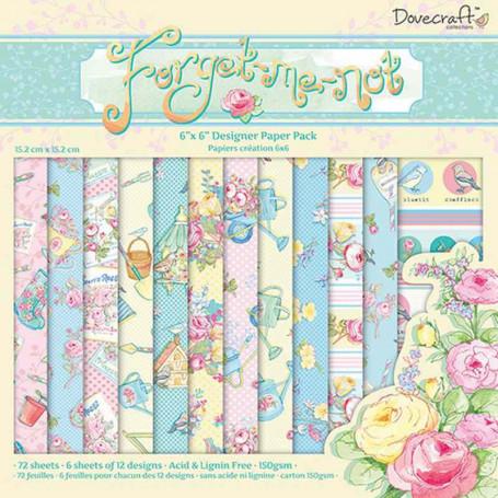 Set de papier 15x15 Forget me not  (72f) – Dovecraft