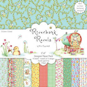Set de papier 15x15 Riverbank Revels (48f) – Helz Cuppleditch