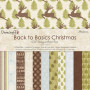 Set de papier 15x15 Back To Basics Christmas Modern  (72f) – Dovecraft