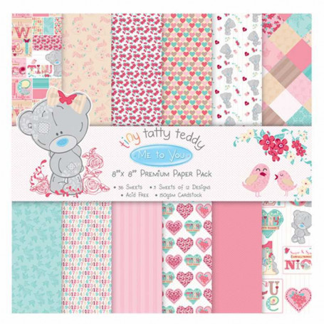 Set de papier 20x20 Tiny Taddy Teddy Girl (36f) – Me To You