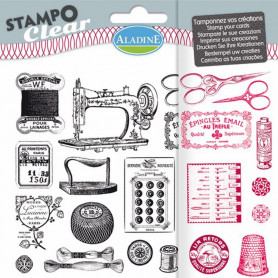 Tampons Stampo clear couture rétro - Aladine