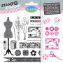 Tampons transparents Stampo clear Couture - Aladine