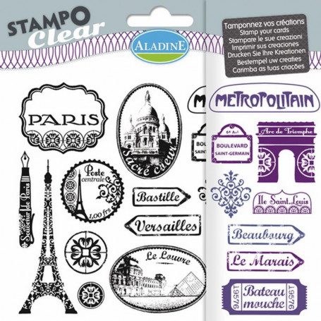 Tampons transparents Stampo clear Paris - Aladine