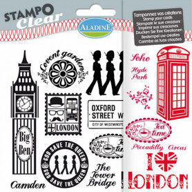 Tampons transparents Stampo clear Londres - Aladine