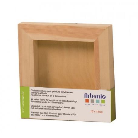 Châssis en bois carré 15 x 15 cm– Artemio
