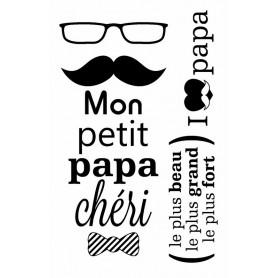 Tampons Papa Chéri 9 x 14 cm - Artemio