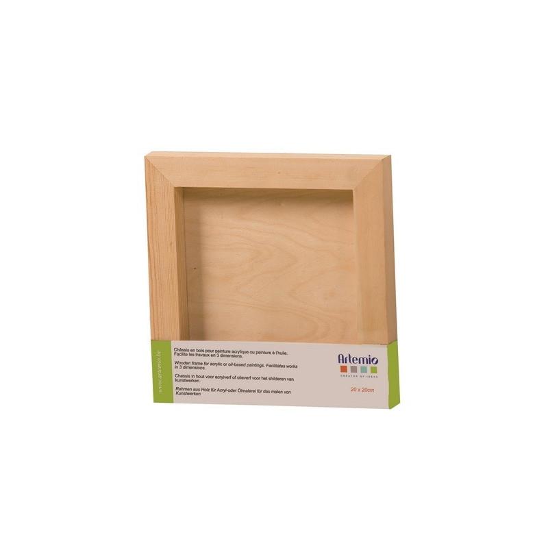 Châssis en bois carré 20 x 20 cm– Artemio