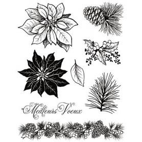 Tampons Roses de Noël - Artemio