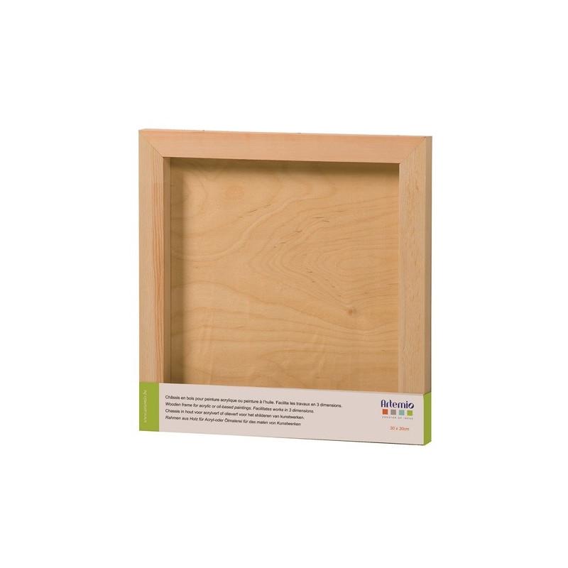 Châssis en bois carré 30 x 30 cm– Artemio
