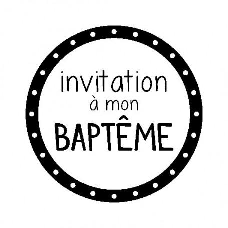 Kit Mini tampon et bloc Invitation ) mon baptême - Artemio