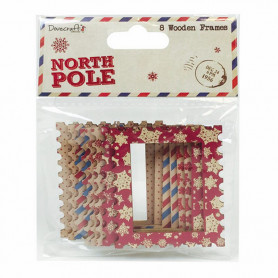 Cadres en bois 8 pc North Pole – Dovecraft