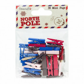 Mini Pegs North Pole 35 pc - Dovecraft