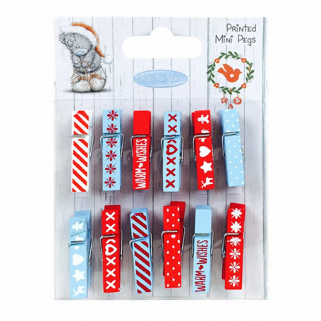 Mini Pegs Christmas 12 pc - Me To You