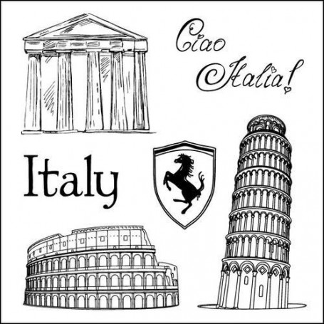 Tampons Discover Italy - ScrapBerry's