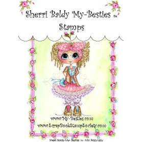 Tampon My Besties Miss Frizzi Lizzy – Sherry Baldy – Clear Stamp