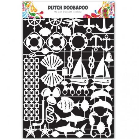 Embellissements papier A5 Nautical – Dutch Paper Art - Dutch Doobadoo