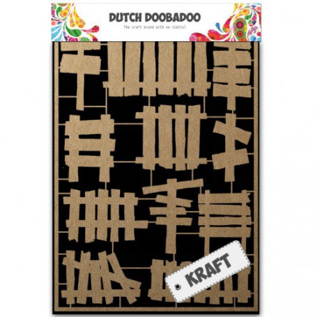 Embellissements papier A5 Wooden fences – Dutch Craft Art - Dutch Doobadoo