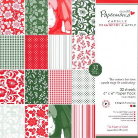 Set de papier 15x15 Cranberry & Apple (32f) – Capsule Docrafts Papermania