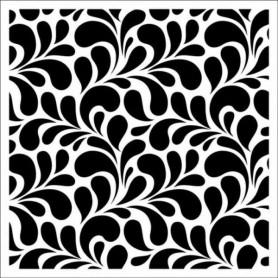 Pochoir 15x15cm Petals Pattern – ScrapBerry's