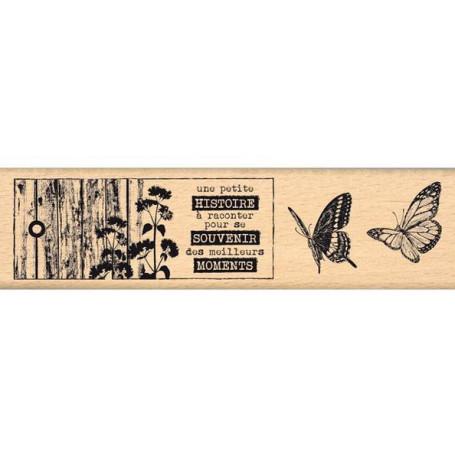 Tampon bois Histoire à raconter - Florilèges Design