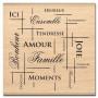 Tampon bois Filet de bonheur - Florilèges Design