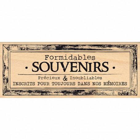 Tampon bois Cadre souvenirs pour toujours - Florilèges Design
