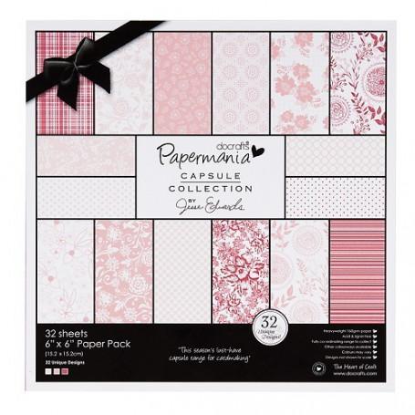 Set de papier 15x15 Parkstone Pink (32f) – Capsule Docrafts Papermania