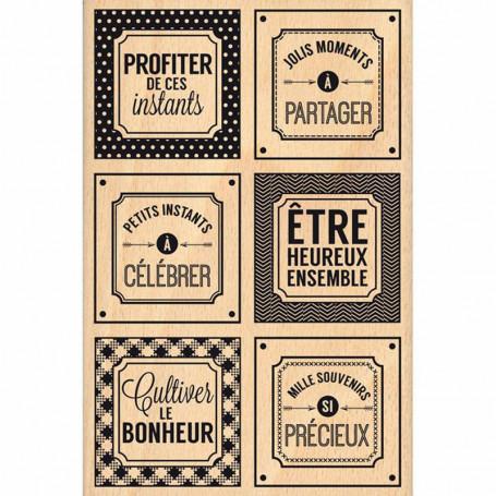Tampon bois Instants si précieux - Florilèges Design