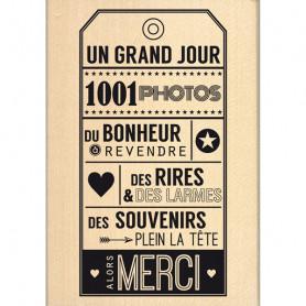 Tampon bois Alors merci - Florilèges Design