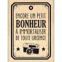 Tampon bois Bonheur de toute urgence - Florilèges Design