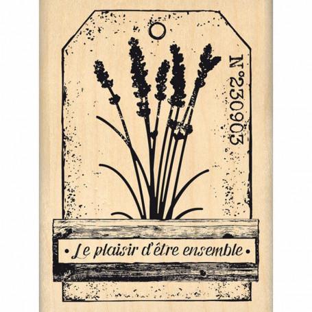 Tampon bois Le plaisir d'être ensemble - Florilèges Design