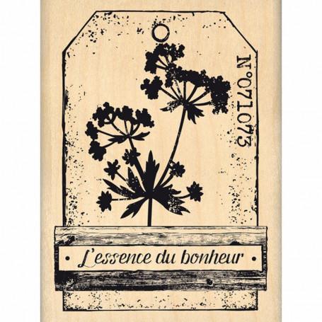 Tampon bois L'essence du bonheur - Florilèges Design