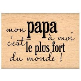 Tampon bois Mon papa à moi - Florilèges Design