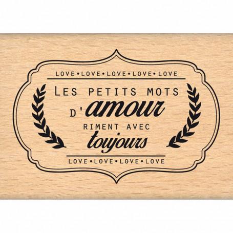 Tampon bois Petits mots d'amour - Florilèges Design