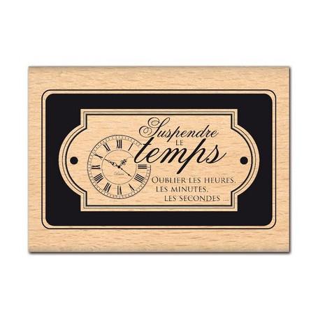 Tampon bois Oublier les heures - Florilèges Design
