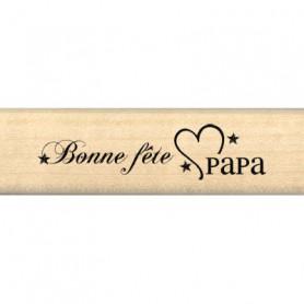 Tampon bois Bonne fête Papa - Florilèges Design