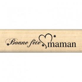 Tampon bois Bonne fête Maman - Florilèges Design