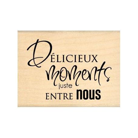 Tampon bois Juste entre nous - Florilèges Design