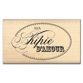 Tampon bois Chipie d'amour - Florilèges Design