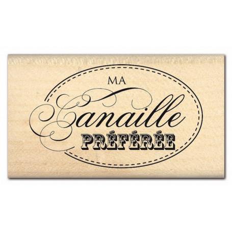 Tampon bois Canaille préférée - Florilèges Design