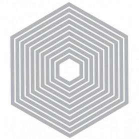 Dies Set de 10 Hexagones - Framelits – Sizzix