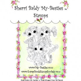 Tampon My Besties Wee Winged Ones Girl Friends – Sherry Baldy – Clear Stamp