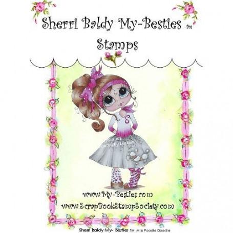 Tampon My Besties Miss Poodie Doodie – Sherry Baldy – Clear Stamp