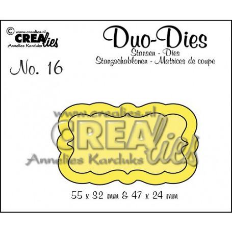 Dies nr 16 Duo Labels 3 - Crealies