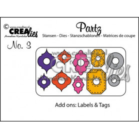 Partz dies no. 3 Add ons Labels & Tags - Crealies